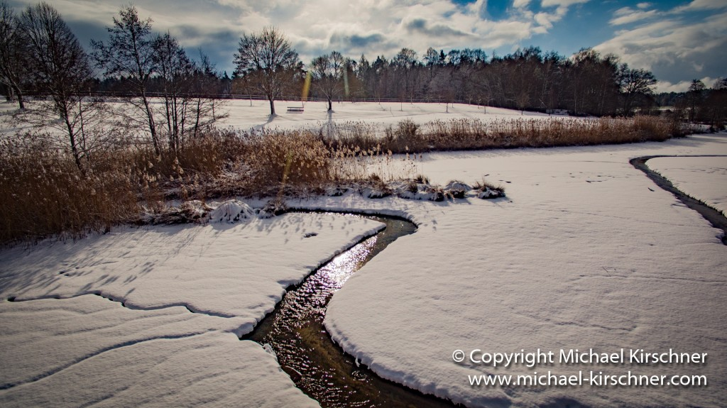 Weiher Schnee Winter-1