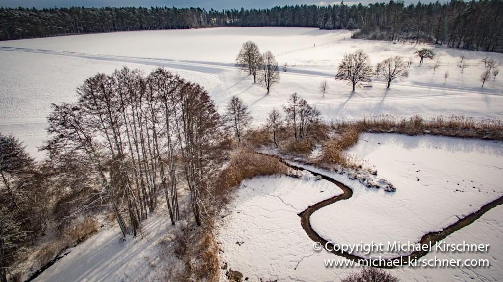 Weiher Schnee Winter-2