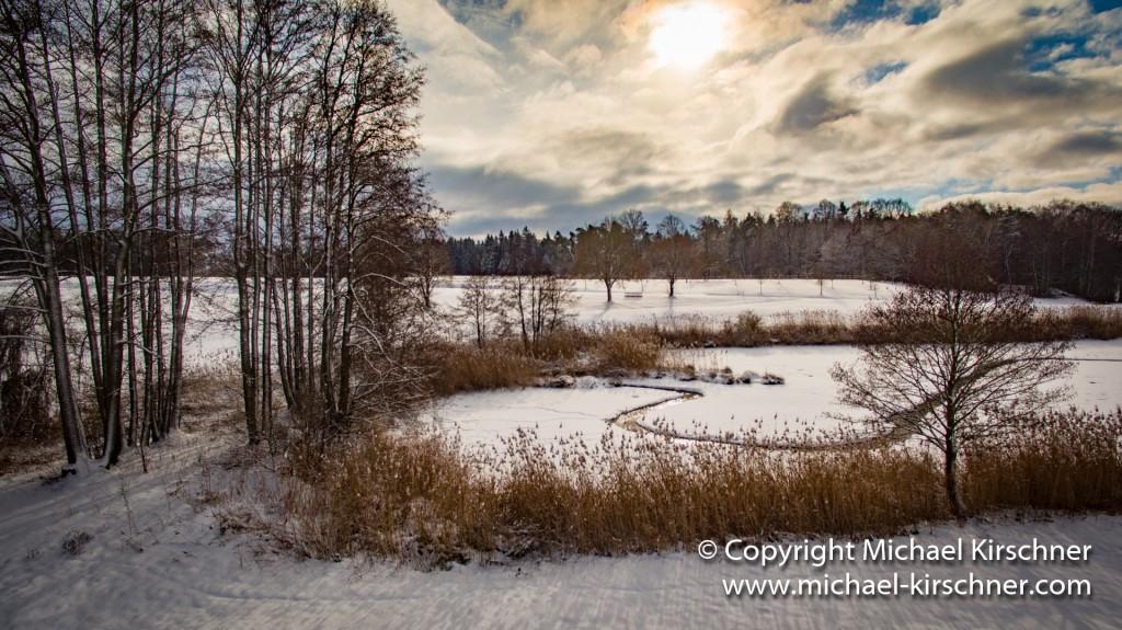 Weiher Schnee Winter-3