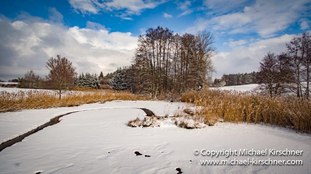 Weiher Schnee Winter-4