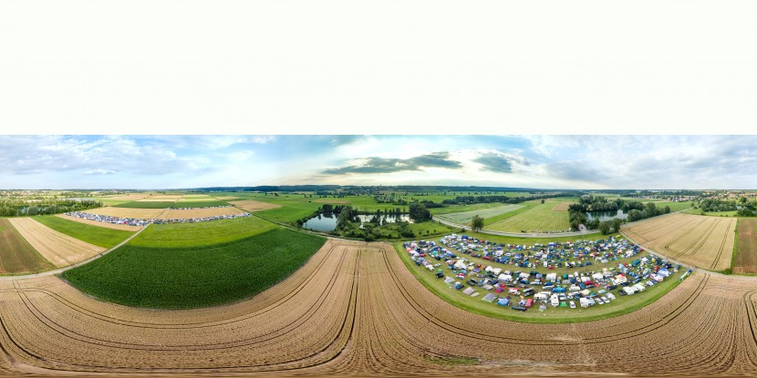 Luftbild Panorama SUNRISE Festival