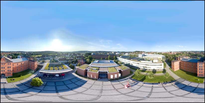 Luftbild Panorama Campus Hochschule Ansbach